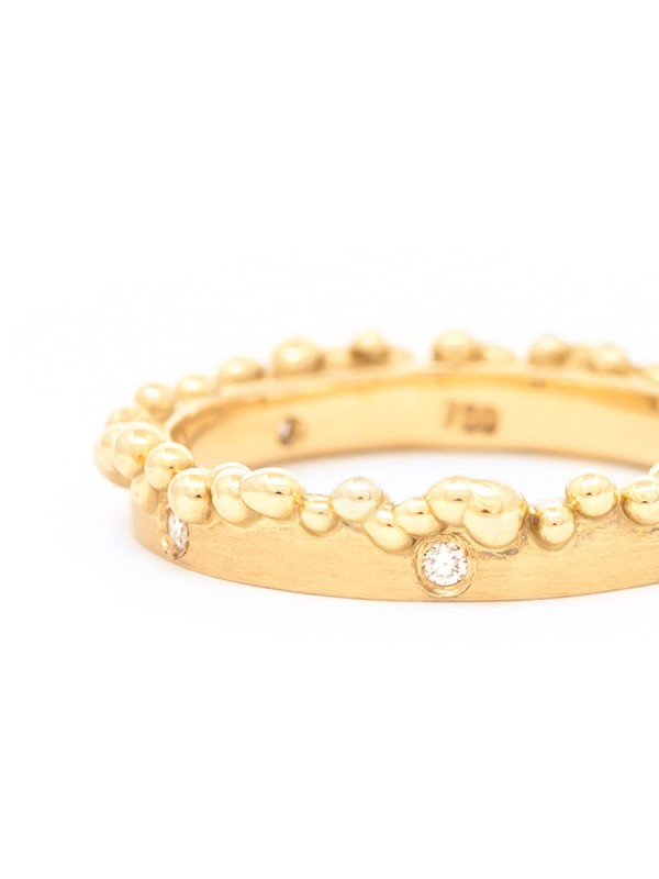 Bubble Ring – Gold & Diamonds