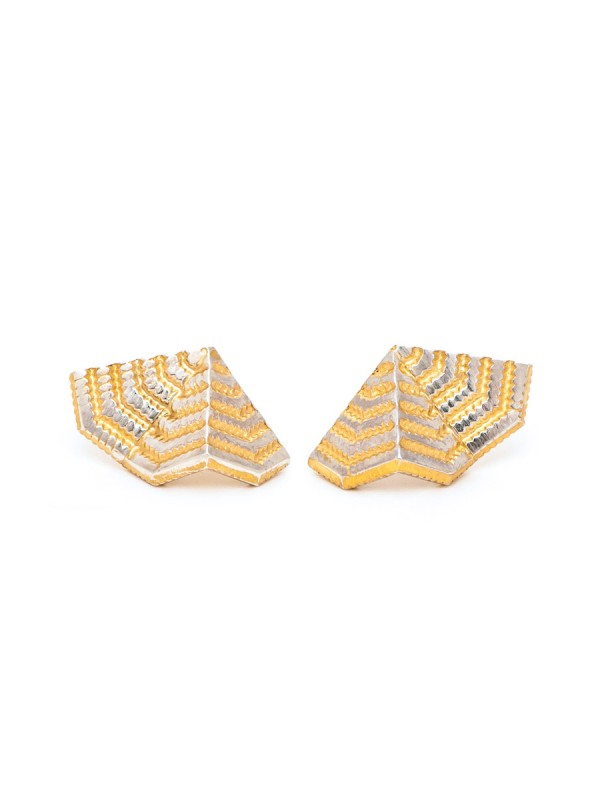 Chevron Fan Stud Earrings
