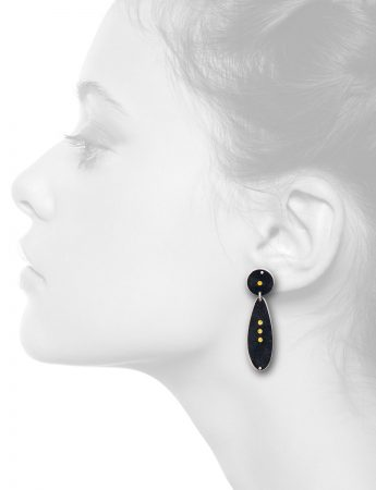 Circle & Water Drop Earrings