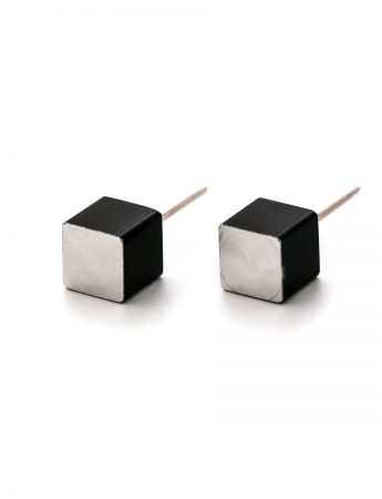 Cubist Stud Earrings - Black