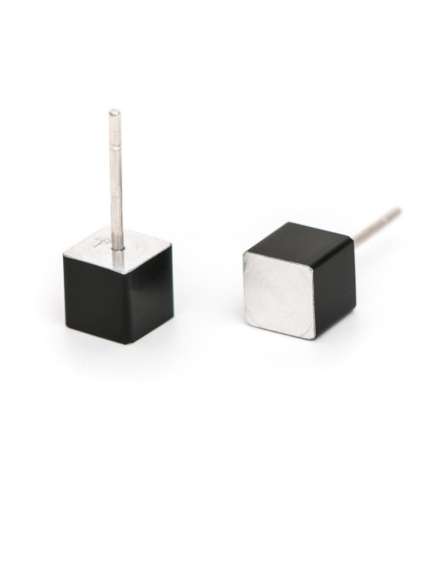 Cubist Stud Earrings – Black