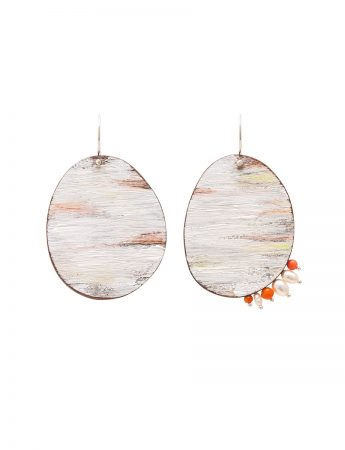 Dust Earrings – Pearl & Coral