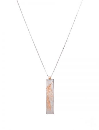Feather Pendant - Rose Gold Plate