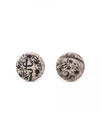 Flower Stud Earrings - Silver