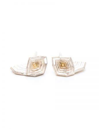 Geo Blossom Stud Earrings