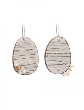 Haze Earrings - Pearl & Moonstone