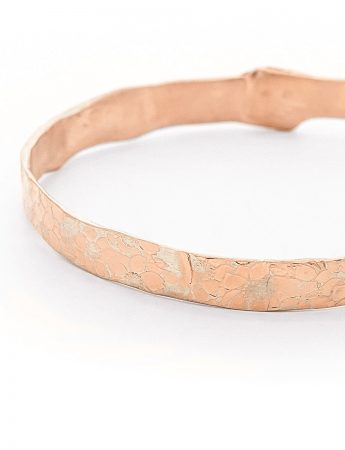 Large Flower Bangle - Rose Gold Plate