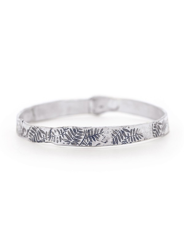Leaves Bangle – Silver