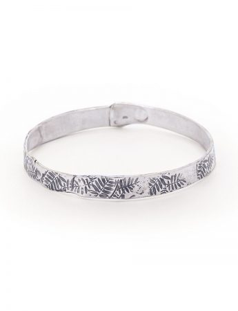 Leaves Bangle - Silver