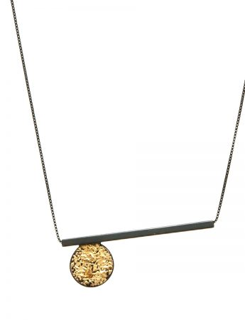 Circle Line Pendant Necklace - Long