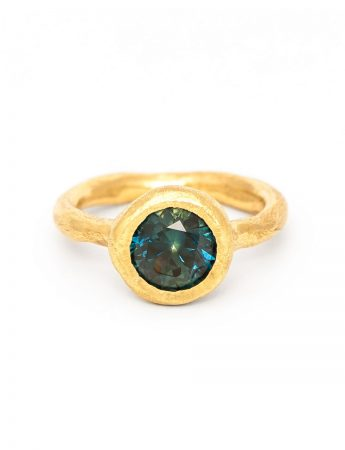 To Manifest Ring - Yellow Gold & Sapphire