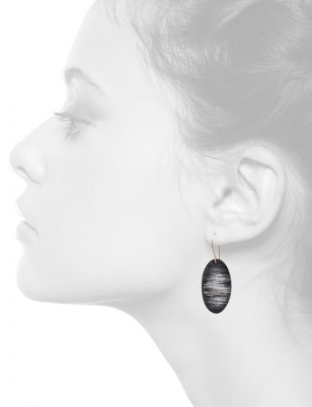 Midnight Earrings – Black & White