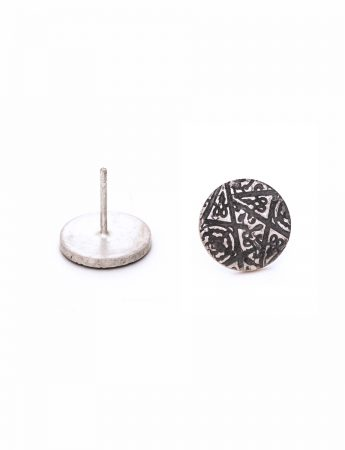 Morocco Stud Earrings - Silver
