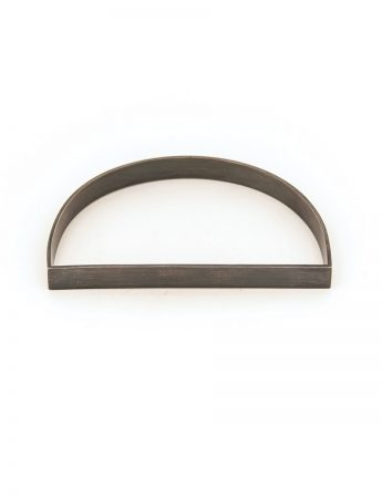 Medium D Bangle - Oxidised