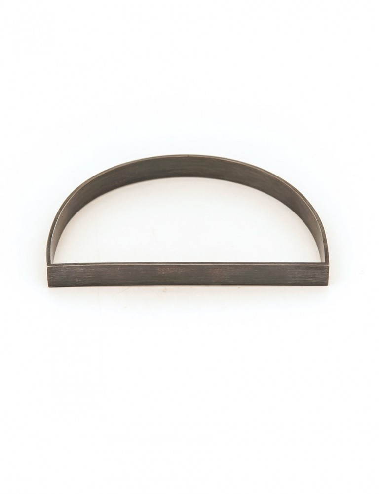 Medium D Bangle – Oxidised