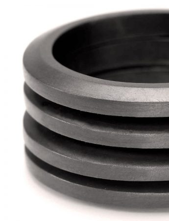 Four Ring Stack - Oxidised