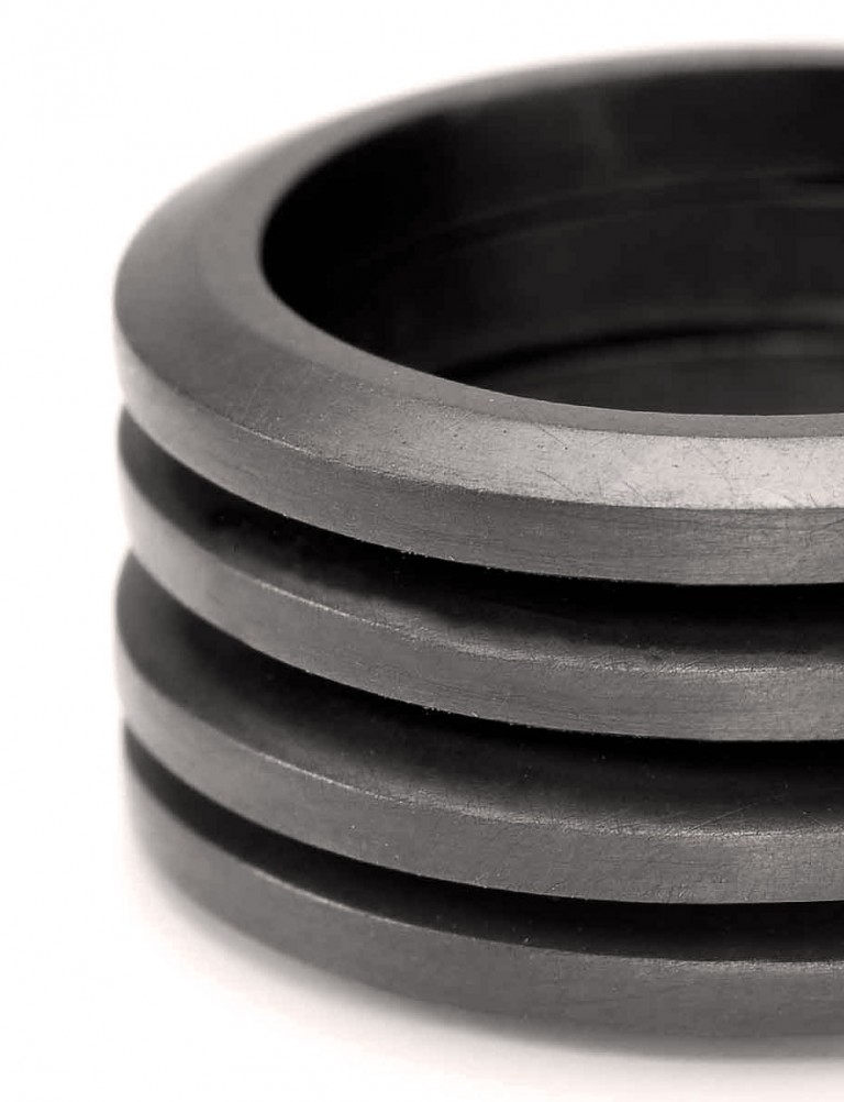 Four Ring Stack – Oxidised