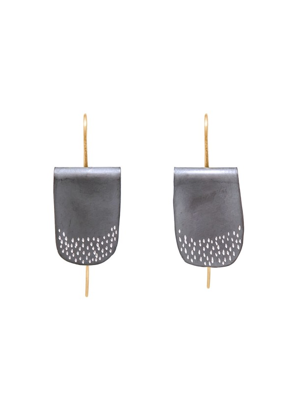 Oxidised Silver U-Shaped Earrings
