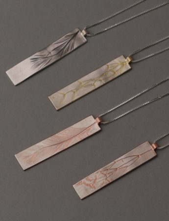 Feather Pendant – Rose Gold Plate