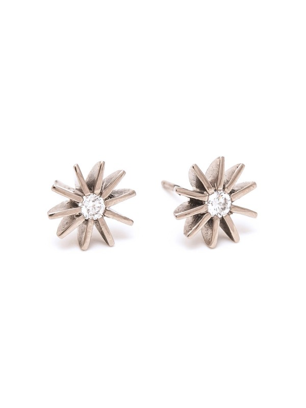 Radiant Star Diamond Stud Earrings
