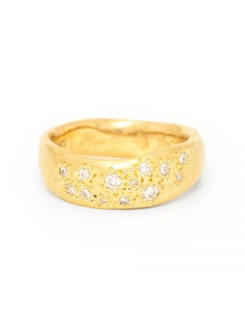 Random Ring - Yellow Gold & Diamonds