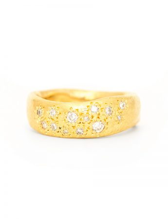 Random Ring – Yellow Gold & Diamonds