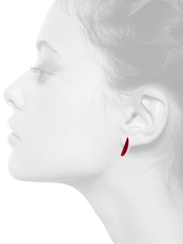 Half Shell Earrings – Red
