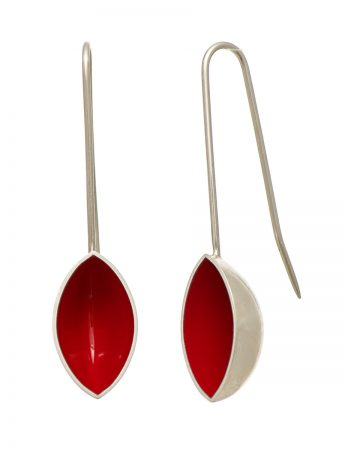 Pod Earrings - Red
