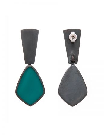 Resin Earrings - Teal
