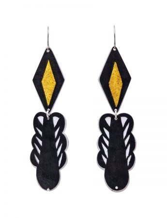 Rhombus Skirt Earrings