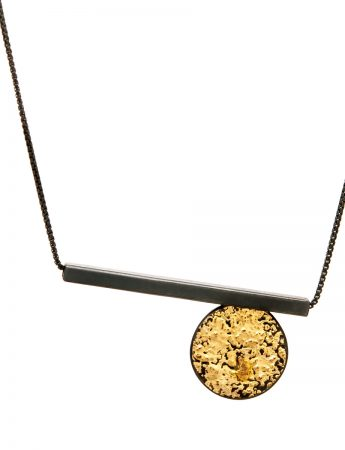 Circle Line Pendant Necklace - Short