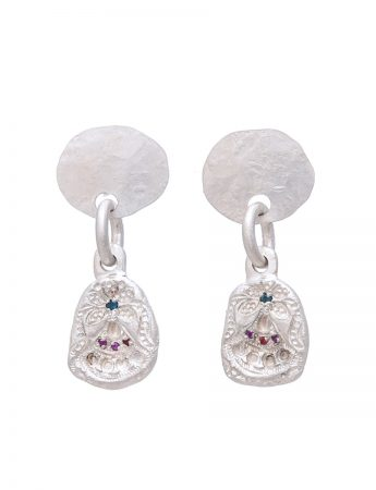 Small Alexandra Earrings – Sapphire