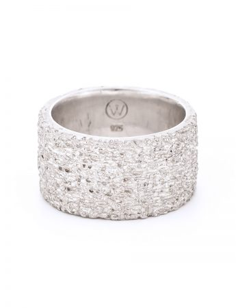 Wide Sunken Ring - Silver
