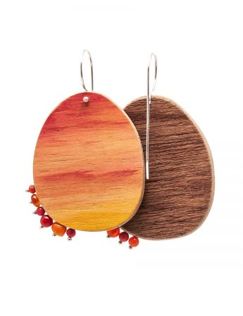 Sunset Earrings - Orange