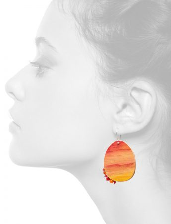 Sunset Earrings – Orange