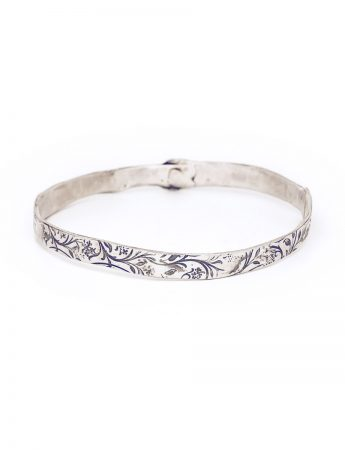 Swirl Bangle - Silver