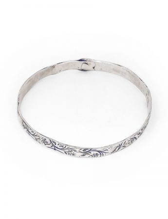 Swirl Bangle – Silver