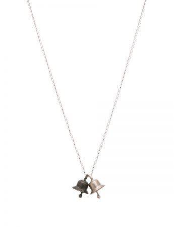 Small Classic Bell Necklace - Silver & Oxidised