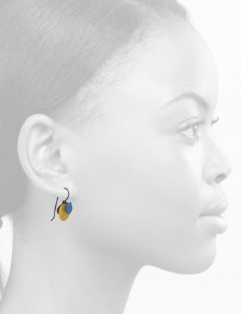 Violet Hook Earrings – Blue & Yellow