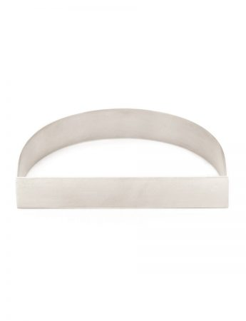 Wide D Bangle - Silver
