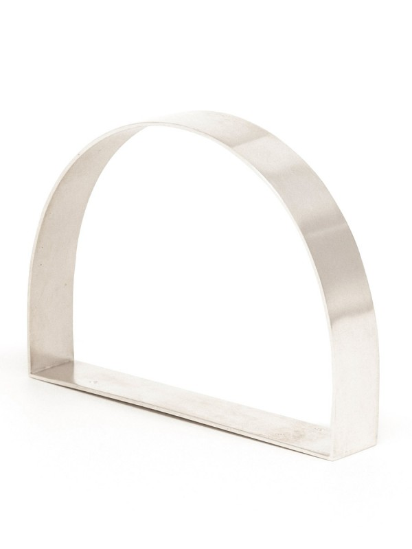 Wide D Bangle – Silver