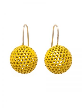 Ball Hook Earrings - Yellow
