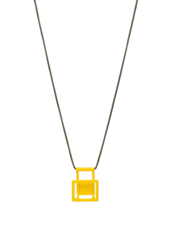 Yellow Rectangle Pendant