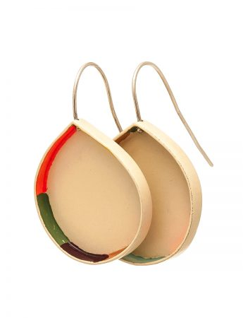 Colour Strip Earrings - Waterdrop