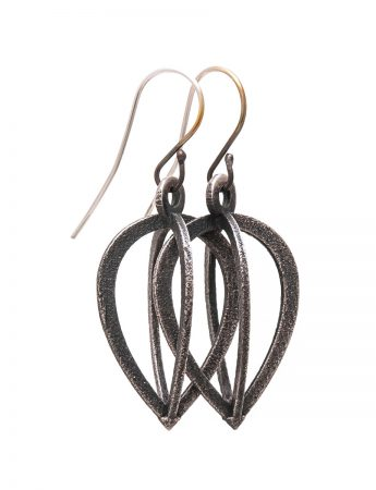 Caged Amulet Earrings - Pointed Drop
