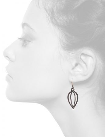 Caged Amulet Earrings – Pointed Drop