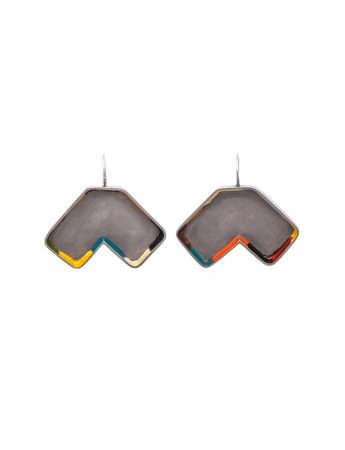 Colour Strip Earrings - Polygonal