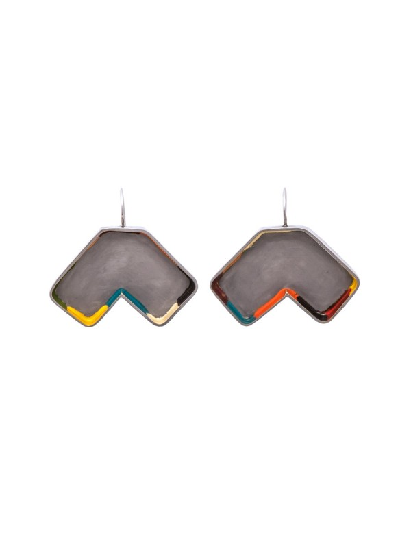 Colour Strip Earrings – Polygonal