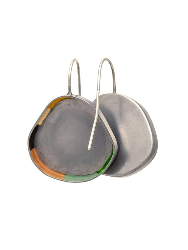 Colour Strip Earrings – Round