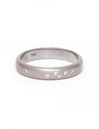 Confetti Wedding Ring - White Gold & Diamond